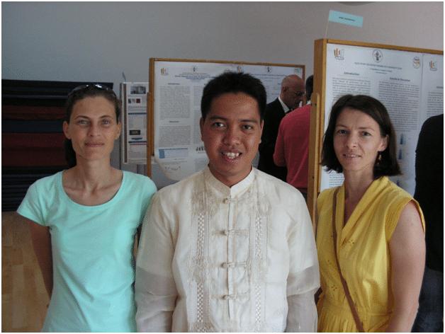 With Profs. Diana Gidu (Left) professor in Handball and Prof. Antoanela Oltean professor in Gymnastics.