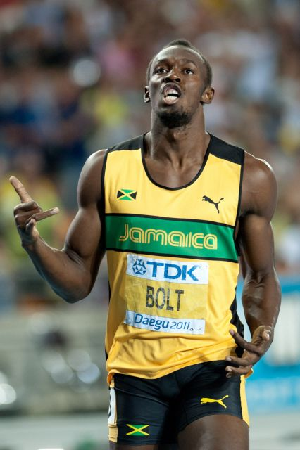 usain bolt 200 m final daegu 2011