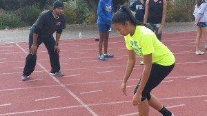Kayla training with her coach Jon Gilmer.