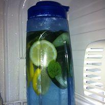 Coach Ojon Detox water safely inside the fridge of Gate 6. PAK!!!