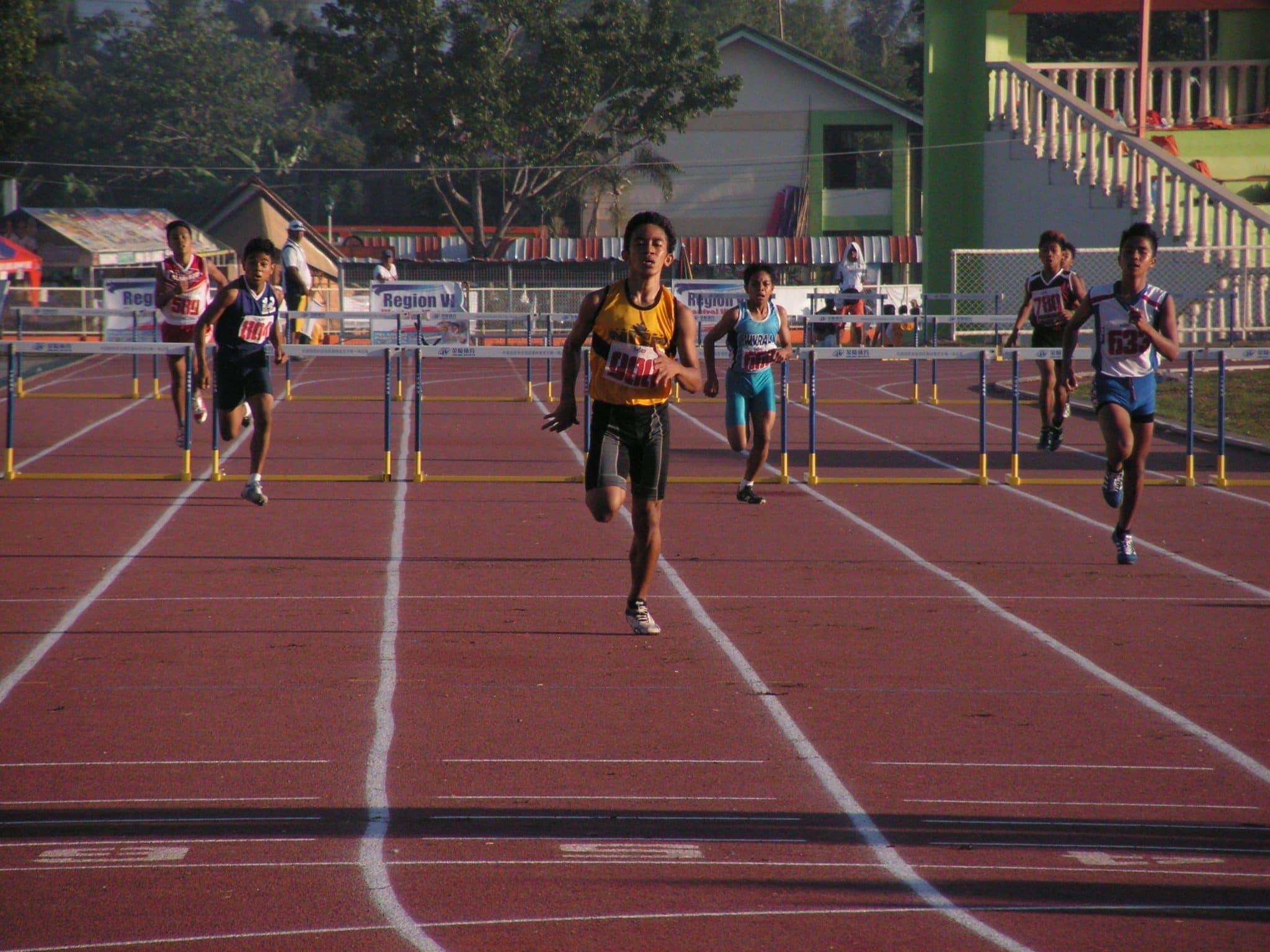 Jaime Mejia during 400m Hurdles.