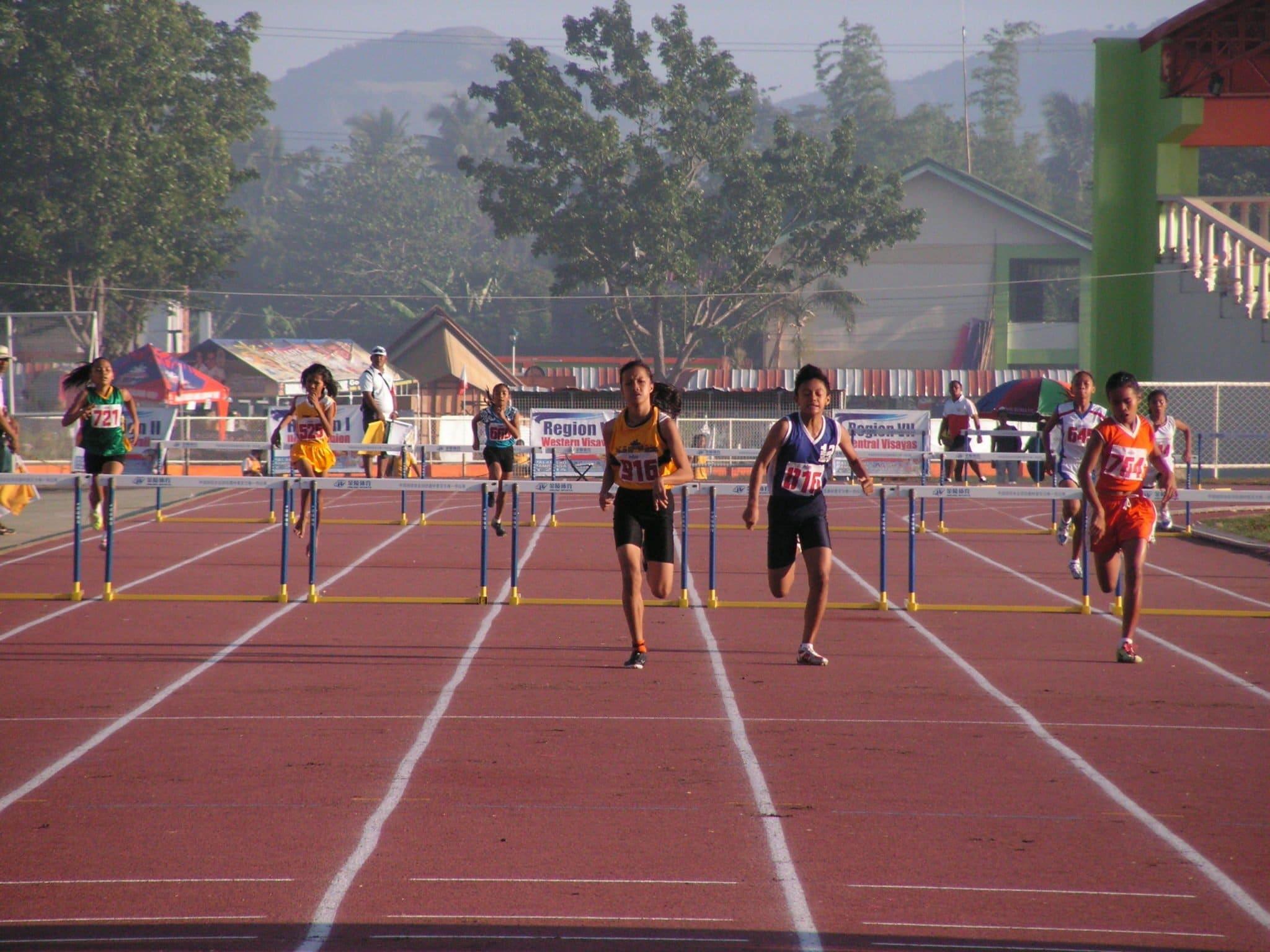 Sirilan during 400m Hurdles.