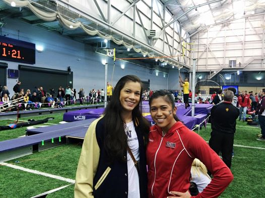 Alyana Nicolas on the right at Dempsey Indoor