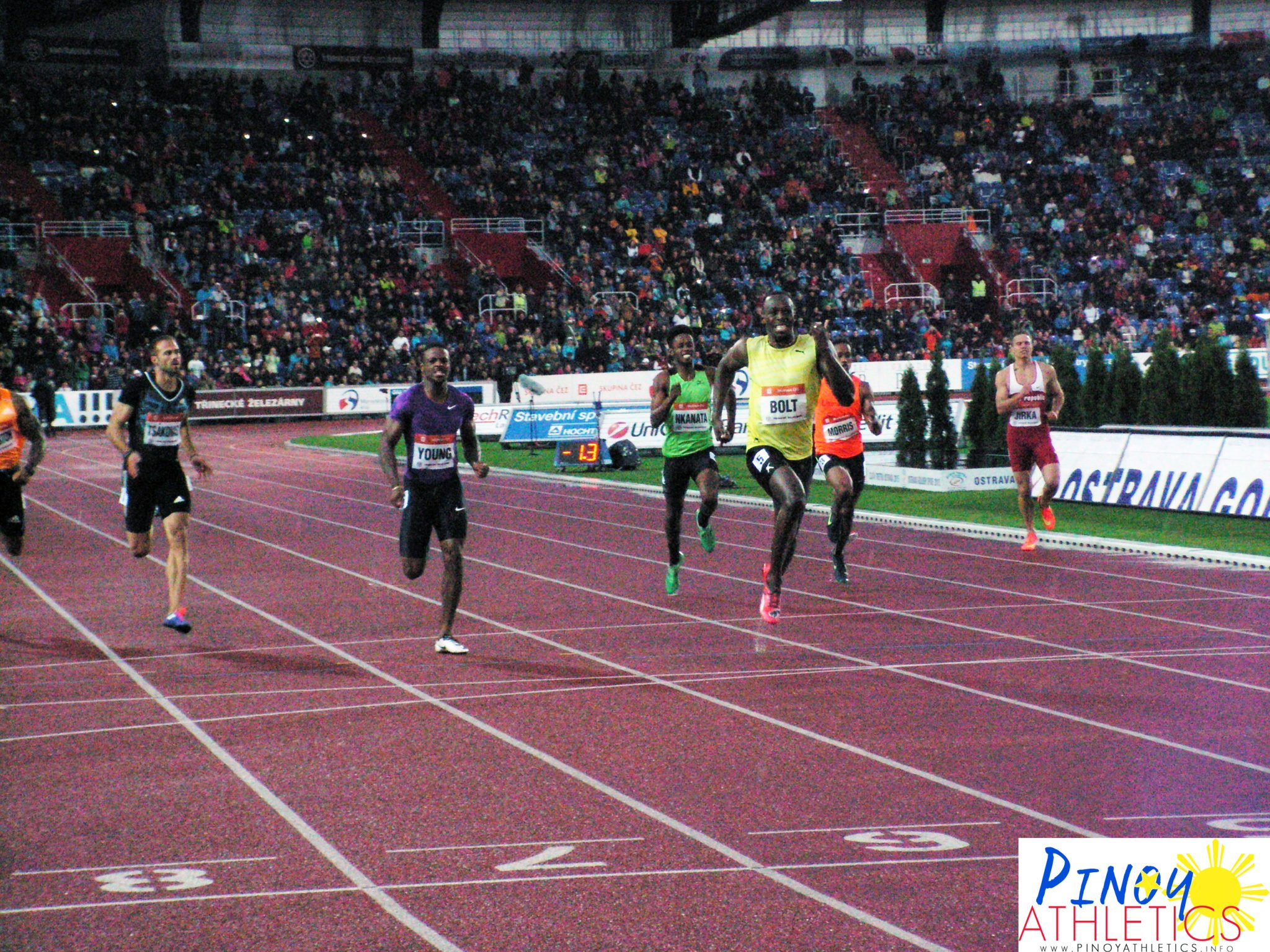 04-Close encounter with Usain Bolt, the lead star of the Ostrava Golden Spike Championships