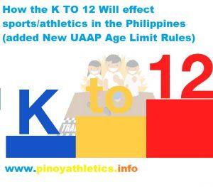 How K12 school effects Philippine Athletics 49