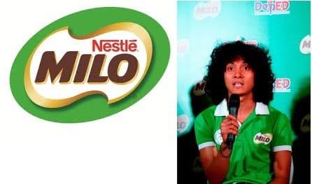 milo logo with Rio Dela Cruz