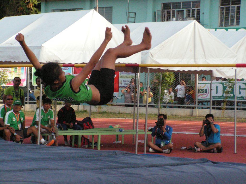Banatao on her record-breaking jump.