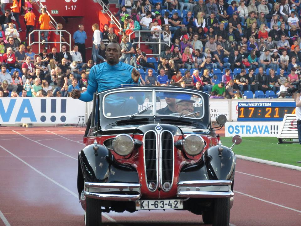 Usain Bolt on Parade during the 2016 Golden Spike Ostrava Opening Series.