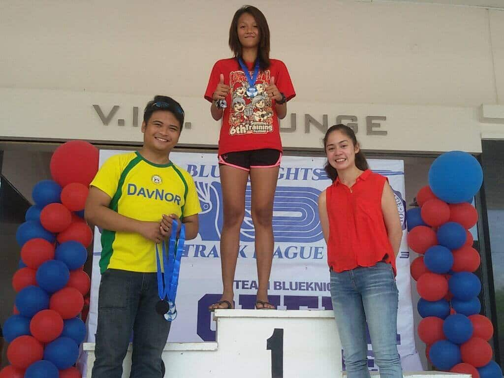 Koronadal's promising jumper Remeia Pulido winning the Triple Jump