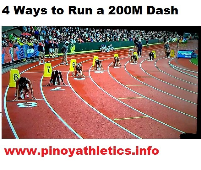 200 Meter Dash - 4 Ways to Run one 4