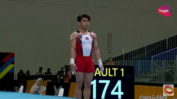 Carlos Yulo just outside medals 4th in vault 6