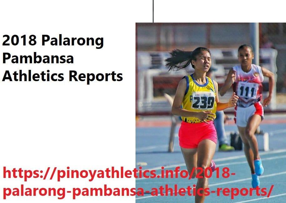 Palarong Pambansa 2015 Athletics Reports 19