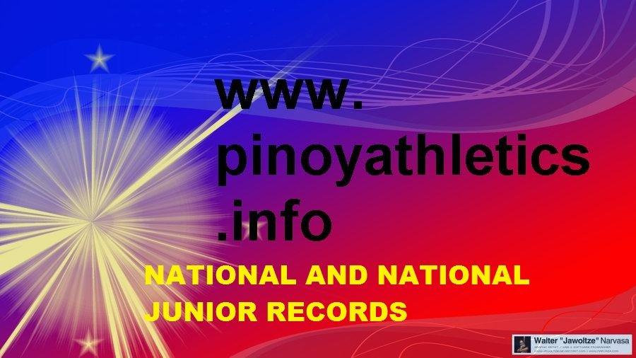Philippines Athletics Records