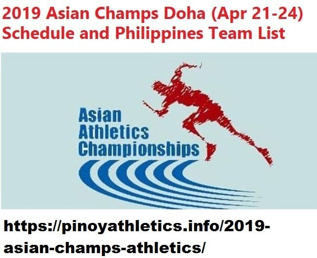 2019 Asian Athletics Championships
