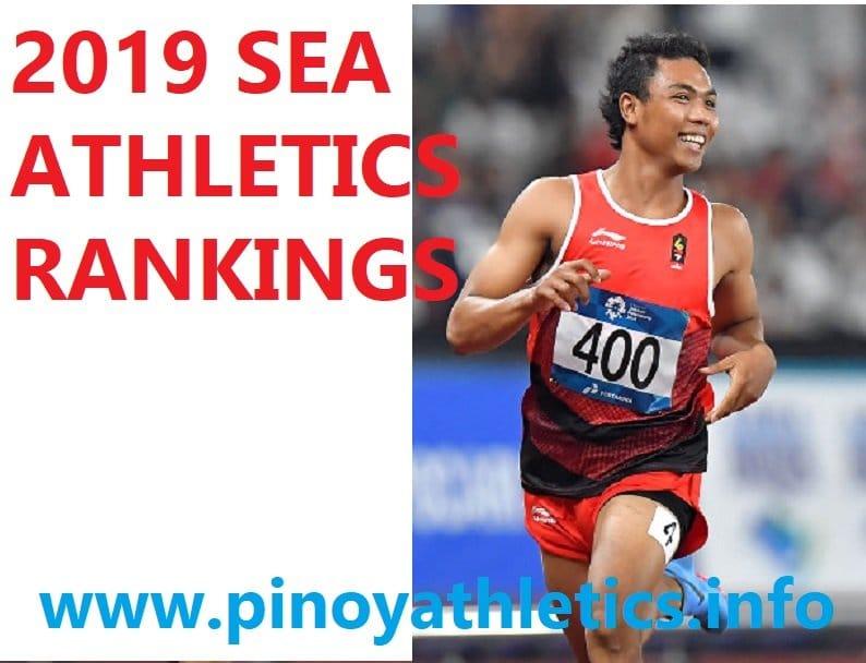 2019 SEA Rankings Athletics