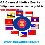 SEA Games Athletics Events Phi never won 1