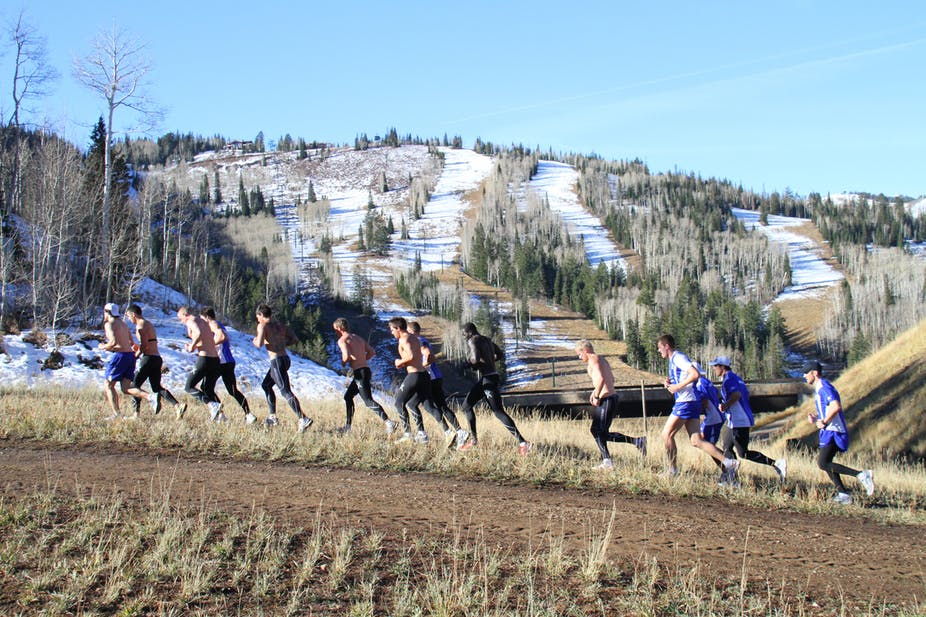 athletes train at high altitudes