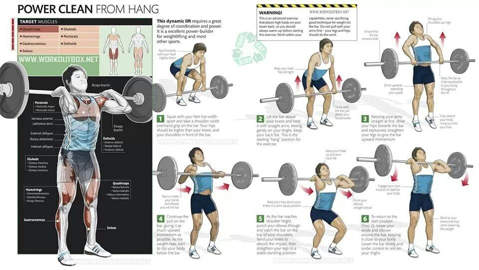 Power Cleans Workout