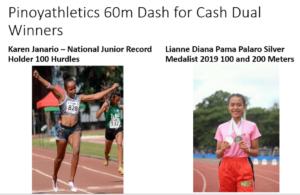 Pinoyathletics Amazing Virtual Women's 60 meter Dash for Cash 33