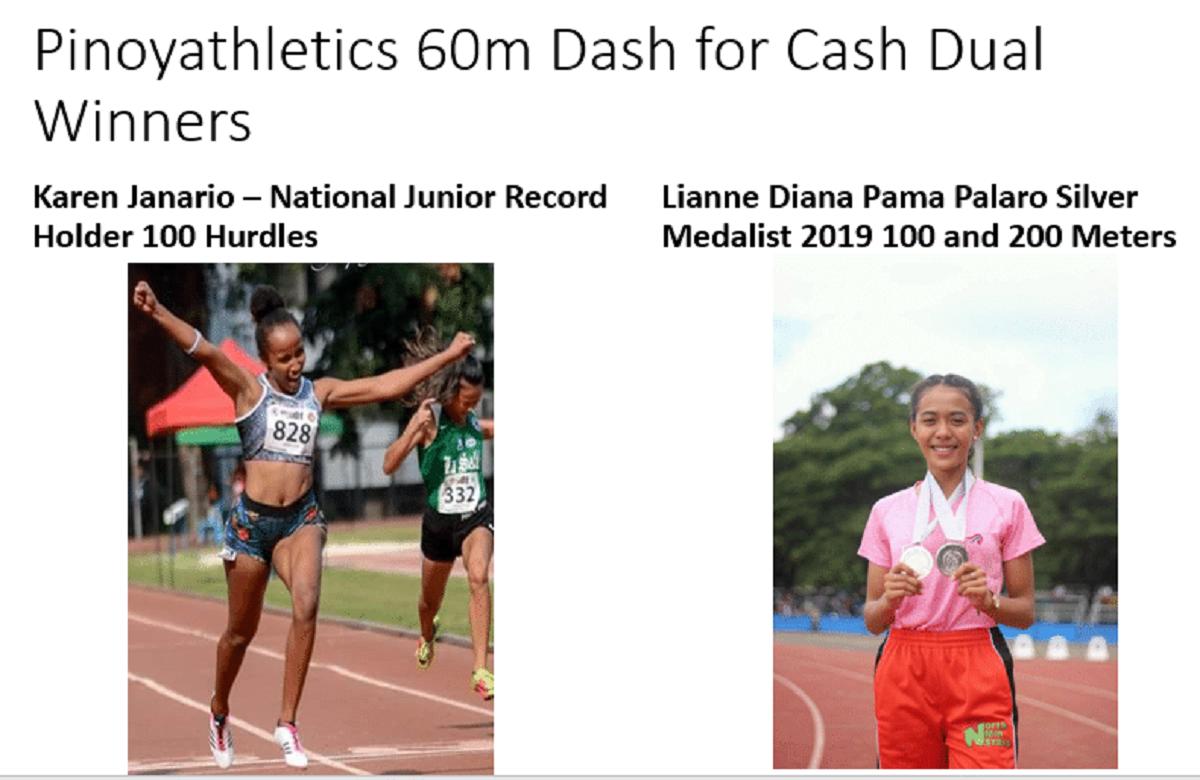 Pinoyathletics Amazing Virtual Women's 60 meter Dash for Cash 2