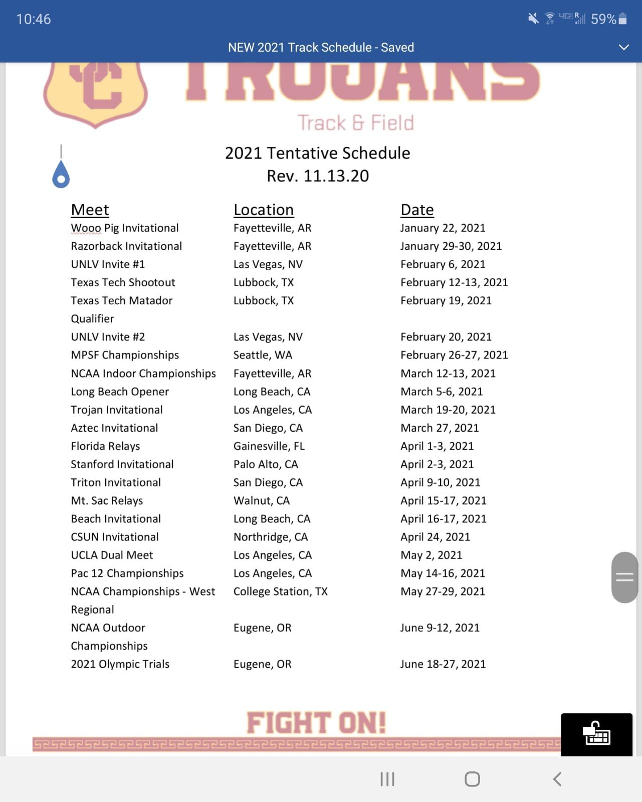 2021 Philippines Athletics Calendar  / Results 1