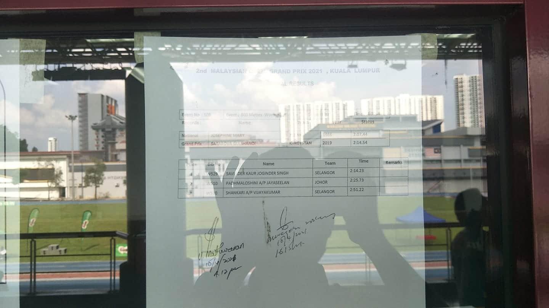 Malaysian Grand Prix Athletics Results (April 10-11) 11