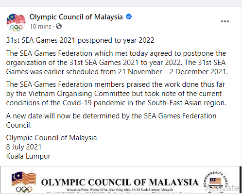 SEA Games 2021 Cancelled if Vietnam cant decide by October 2