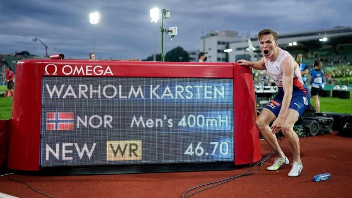 Karsten Warholm breaks Kevin Youngs 29-year-old 400 Hurdles record 12