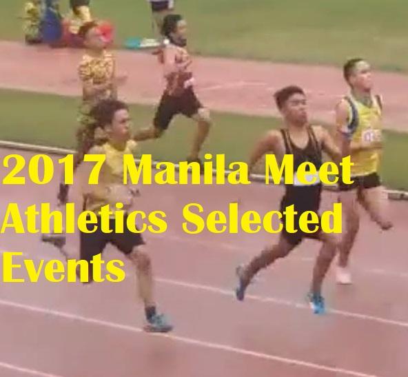 2017 Manila Meet Athletics